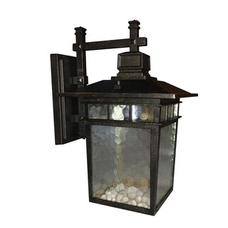 Cullen Oil Rubbed Bronze Exterior Light Fixture with Clear Water Glass