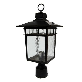 Cullen Oil Rubbed Bronze Outdoor Lamp Post Light Fixture with Clear Water Glass
