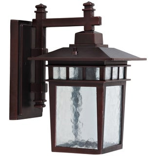 Cullen Oil Rubbed Bronze Outdoor Light Fixture with Clear Water Glass