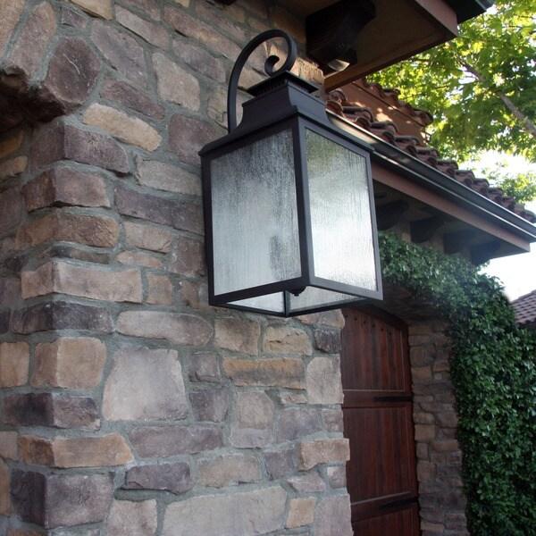 Y-Decor 'Morgan' 3-light Rustic Bronze Exterior Lighting