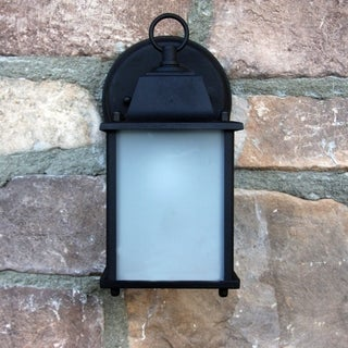 Chaz Exterior Outdoor Light Fixture Black Finish with Frosted Glass