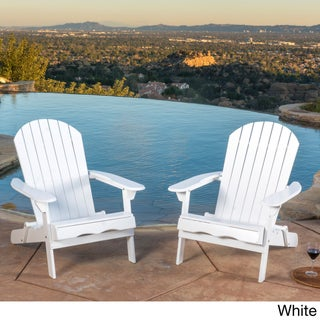 Hanlee Outdoor Folding Wood Adirondack Chair (Set of 2) by Christopher Knight Home