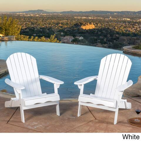 Hanlee Outdoor Folding Wood Adirondack Chair Set Of 2 By Christopher Knight Home