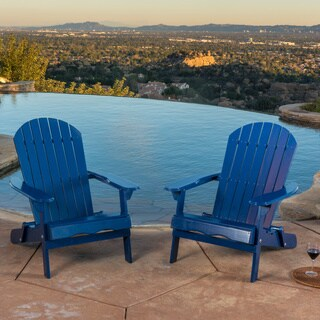 Hanlee Outdoor Folding Wood Adirondack Chair (Set of 2) by Christopher Knight Home (4 options available)
