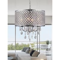 Oisetta 4 light Chrome Finish Crystal Round Chandelier