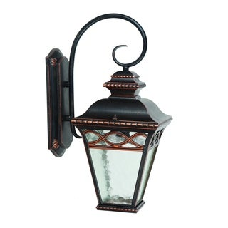 Cheri Exterior Outdoor Light Fixture Oil Rubbed Bronze Finish with Clear Water Glass