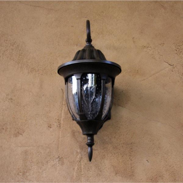 decor 39 samantha 39 brown finish 1 light exterior light fixture with