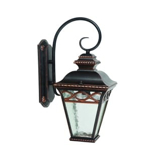 Cheri Oil Rubbed Bronze Outdoor Outdoor Light Fixture with Clear Water Glass