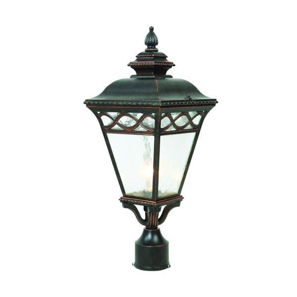 Y Decor Cheri Outdoor Lamp Post Light Fixture In Oil
