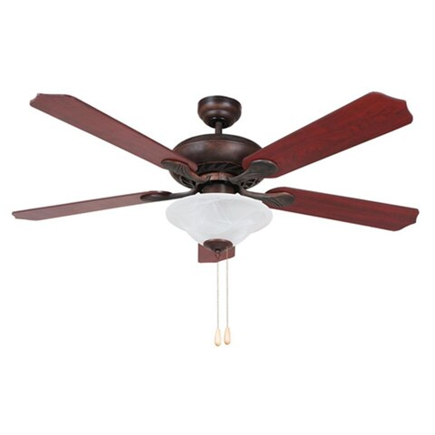 Y-Decor 'Bodi' 52-inch Ceiling Fan with Frosted White Alabaster