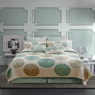 Nostalgia Home Madison Teal Cotton Quilt