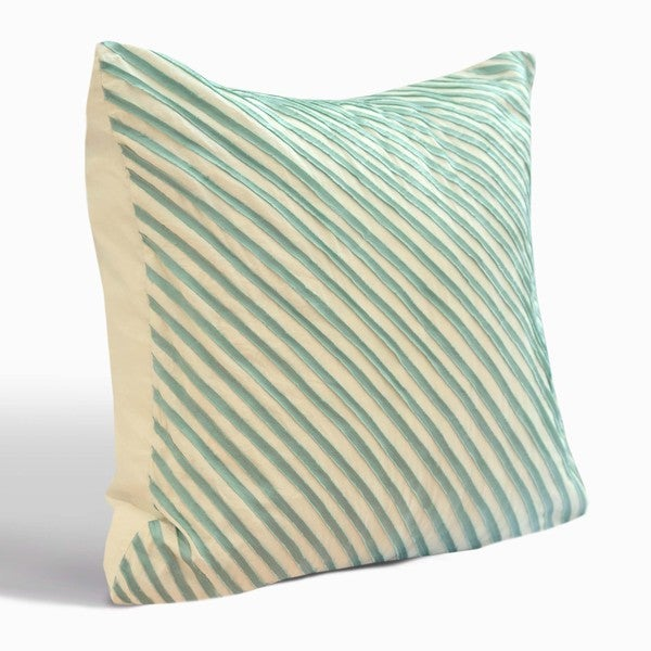 Nostalgia Home Madison European Square Teal Cotton Sham