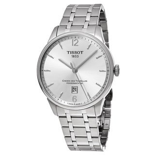 Tissot Men's T099.407.11.037.00 'T-Classic' Silver Dial Stainless Steel Chemin des Tourelles Swiss Automatic Watch