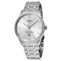 Tissot Men's  'T-Classic' Silver Dial Stainless Steel Chemin des Tourelles Swiss Automatic Watch