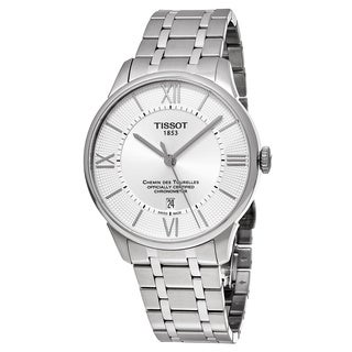 Tissot Men's T099.408.11.038.00 'T-Classic' Silver Dial Stainless Steel Chemin des Tourelles Swiss Automatic Watch