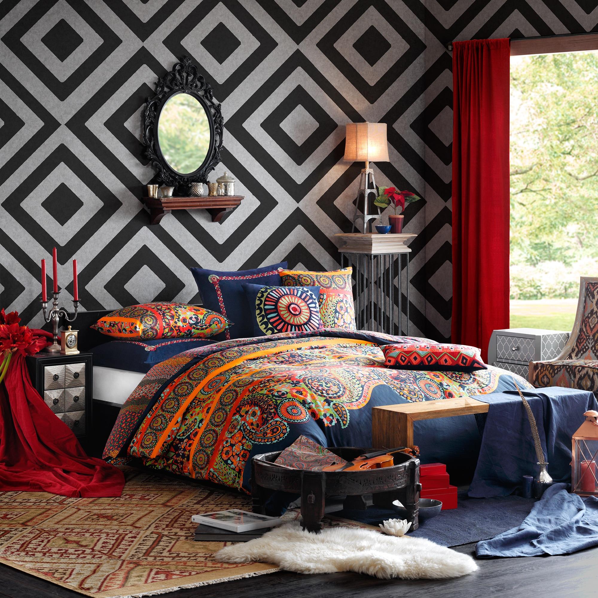 Josie by Natori Hollywood Boho Cotton Comforter Mini Set ...