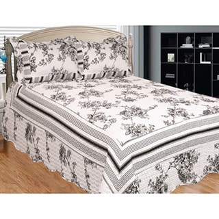 Past and Present Black and White 3-piece Quilt Set