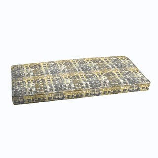 Grey Gold Chevron Indoor Outdoor Corded Bench Cushion Free Shipping Today Overstock Com 18626593