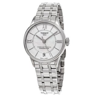 Tissot Women's T099.207.11.118.00 'T-Classic' Mother of Pearl Dial Stainless Steel Swiss Automatic Watch