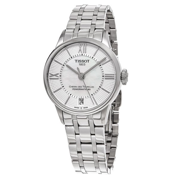 Tissot Women's 'T-Classic' Mother of Pearl Dial Stainless Steel Swiss Automatic Watch