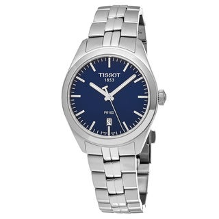 Tissot Women's T101.210.11.041.00 'PR 100' Blue Dial Stainless Steel Swiss Quartz Watch