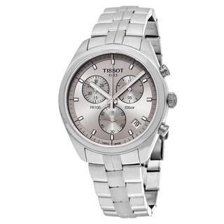 Tissot Men's 'PR 100' Grey Dial Stainless Steel Chronograph Swiss Quartz Watch