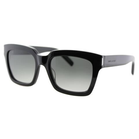 ce69112e97e Saint Laurent SL Bold 1 001 Black Plastic Square Grey Gradient Lens  Sunglasses