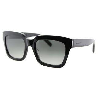 Saint Laurent SL Bold 1 001 Havana Plastic Square Grey Gradient Lens Sunglasses