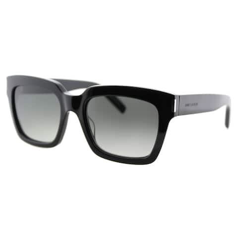 Saint Laurent SL Bold 1 001 Black Plastic Square Grey Gradient Lens Sunglasses