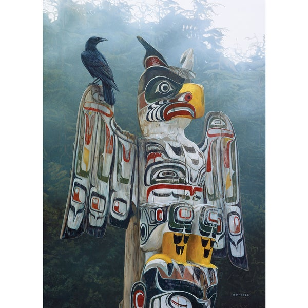 Cobble Hill: Totem Pole in the Mist 1000 Piece Jigsaw Puzzle