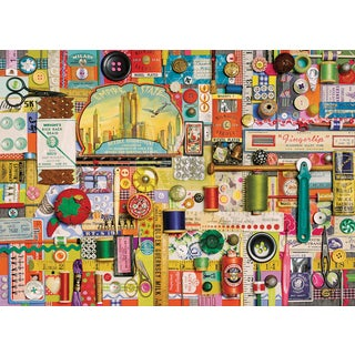 Cobble Hill: Sewing Notions 1000 Piece Jigsaw Puzzle