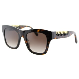 Stella McCartney SC 0011S 002 Falabella Havana Plastic Square Brown Gradient Lens Sunglasses