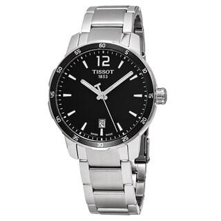 Tissot Men's T095.410.11.057.00 'Quickster' Black Dial Stainless Steel Swiss Quartz Watch