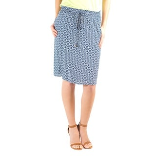 DownEast Basics Women's Geometric Print It's a Draw Skirt