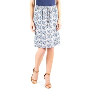 DownEast Basics Women's Floral Print It's a Draw Skirt