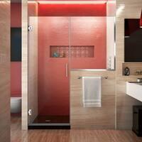 DreamLine Unidoor Plus 57 - 57 1/2 in. W x 72 in. H Hinged Shower Door