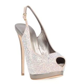 Giuseppe Zanotti Pink Rhinestone Heel Sandal