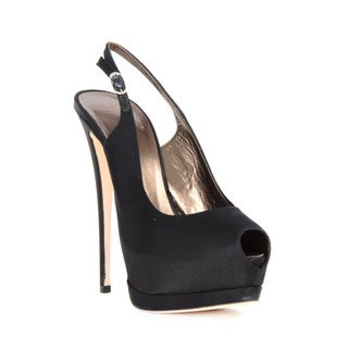 Giuseppe Zanotti Black Peep Toe Heel Sandal