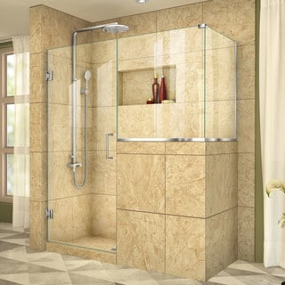 DreamLine Unidoor Plus 54 in. W x 40.375 in. D x 72 in. H Hinged Shower Enclosure