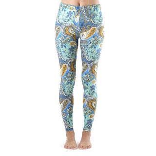 Juniors' Baby Blue Ivy Paisley Ankle Leggings