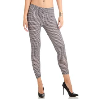 Juniors' Houndstooth Ankle Leggings|https://ak1.ostkcdn.com/images/products/11703131/P18626790.jpg?impolicy=medium