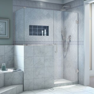 DreamLine Unidoor Plus 47 in. W x 30.375 in. D x 72 in. H Hinged Shower Enclosure