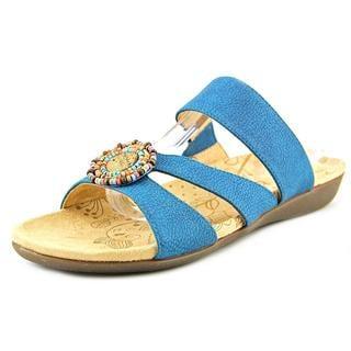 Acorn Women's 'Samoset Slide' Blue Leather Sandals
