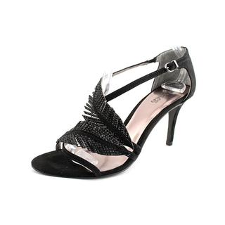 Carlos Santana Women's 'Frisco' Black fabric Sandals