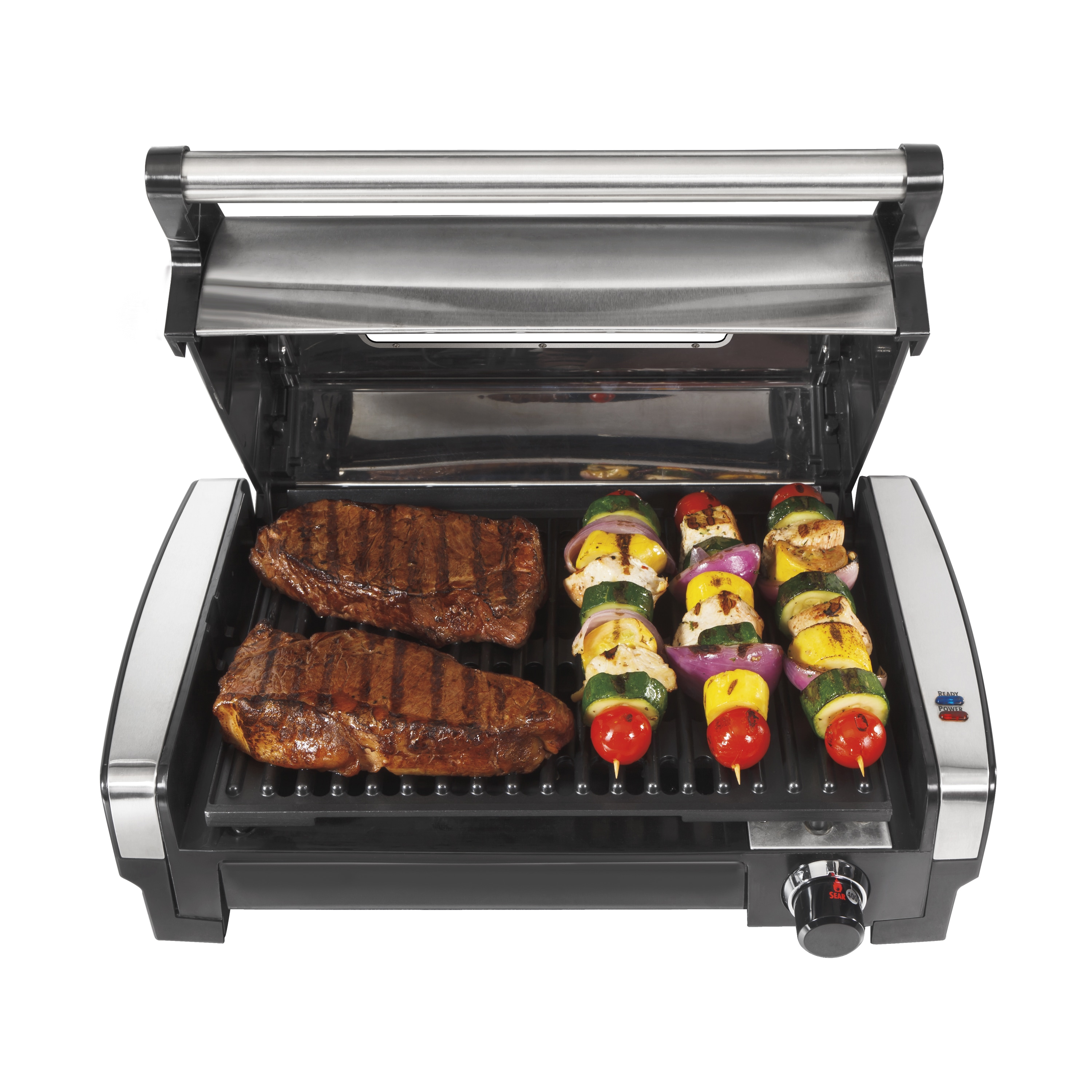 Hamilton Beach Indoor Searing Grill with Lid Window (Indo...