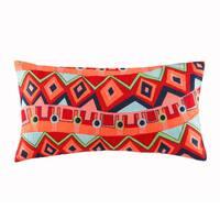 Josie by Natori Hollywood Boho Cotton Oblong Throw Pillow