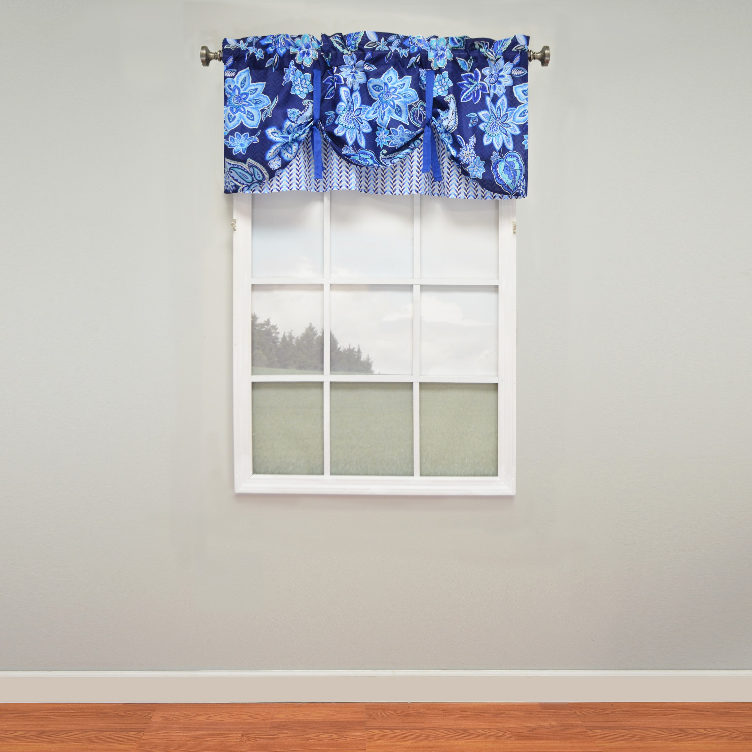 Picture of: Shop Waverly Charismatic Layered Tie Up Window Valance Overstock 11703870