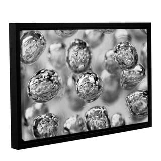 Scott Campbell 'Black and White Bubbles' Gallery Wrapped Floater-framed Canvas
