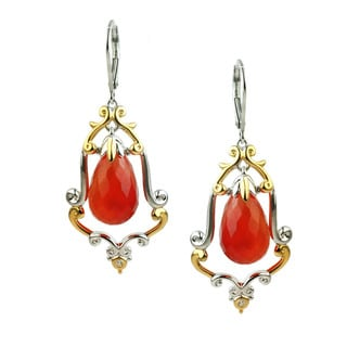 One-of-a-kind Michael Valitutti Carnelian Briolette with Orange Sapphire Earrings