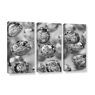 Scott Campbell 'Black and White Bubbles' 3-piece Gallery Wrapped Canvas Set